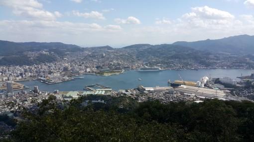 Fjöll skilja norður og suðurhluta Nagasaki