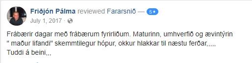 Umsögn - Friðjón Pálma