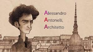 Karikatur af Alessandro Antonelli
